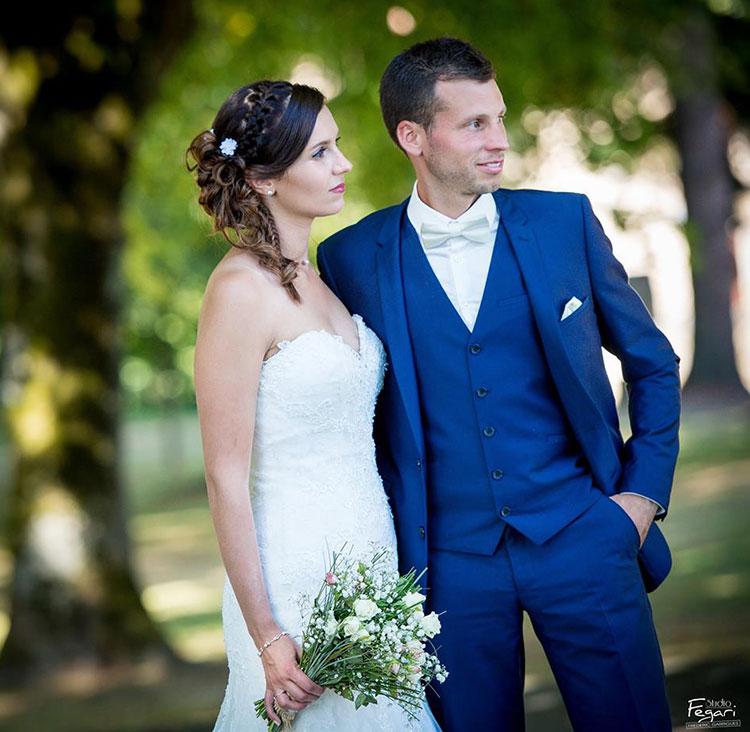 Costume de mariage pour Virginie et Julien